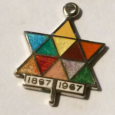 Canada Expo Sterling Silver 1867 1967  Enameled Centennial Charm World's Fair