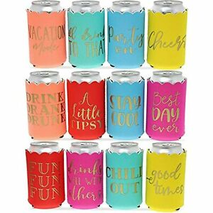 Scalloped Can Cooler Sleeve Party Supplies 12Pack