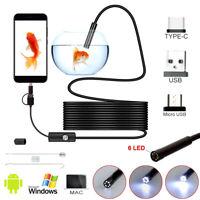 3 en 1 endoscope USB endoscope caméra d'inspection tube Android C étanche 5M ST