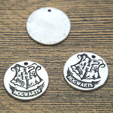 15pcs HP Hogwarts Crest Charms silver tone Hogwarts Crest charm pendant 20mm