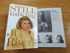 "Comedian JOAN RIVERS signed ""STILL TALKING"" 1991 1st Edition Book"