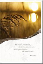 Trauerkarte GEDENKEN | Schilf im Sonnenuntergang | metALUm # 3300025