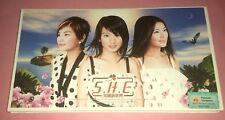 S.H.E. 女朋友: 美丽新世界 THE GENESIS (3rd ALBUM) [长盒豪华版] (2002/SINGAPORE)   CD+VCD