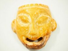 Hongshan Chinese Neolithic Carved Yellow Jade Mask Figure