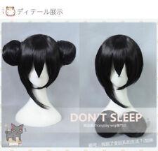 Love Live! Yazawa Nico Short Black Bun Cosplay Wigs Hair