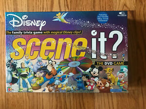 Disney Scene It? 1st Edition Disney Pixar Family DVD Game 100% COMPLETE EUC
