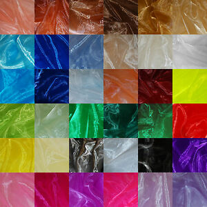 Sheer Organza Fabric Voile Curtain Wedding Drape Material Per Metre 150cm Wide