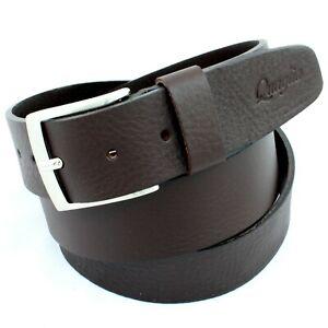 Cintura in Pelle da Uomo Marrone Taglie Forti Extra Lunga Cuoio Made Italy 4 cm