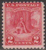 Scott# 645 - 1928 Commemoratives - 2 cents Washington at Prayer