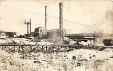 D53/ Cornell Wisconsin Wi RPPC Real Photo Postcard 1914 Power Plant Factory?