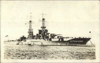 US Naval Ship USS New Mexico c1918 WWI Real Photo Postcard