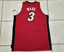 NWT Authentic ADIDAS SWINGMAN Miami Heat Dwyane Wade NBA RED Jersey  Men's 3XL