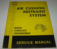 Service Manual Air Custion Restraint System Buick Cadillac Oldsmobile 1974 1975!