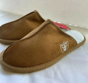 FOCO NFL Oakland Raiders Suede Slippers Size Small Slip On Unisex