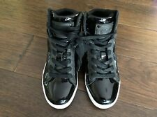 Little Girls Pastry High Top Black Patent Tennis Shoes 2