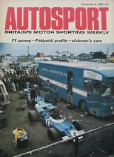 AUTOSPORT magazine 4 December 1969 featuring Volvo road test