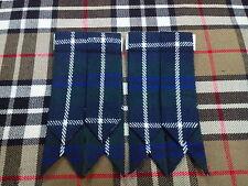 NEUF écossais Kilt accesoire bleu DOUGLAS / Flashes chaussettes
