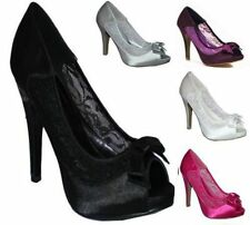 Unbranded Satin Stiletto High (3-4.5 in.) Women's Heels