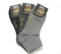 3 Paar Herren Bambus Sneaker Kurzstrumpf Socken Softrand 3 Grau Töne 39 bis 46