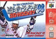 ✅🏒 Wayne Gretzky's 3D Hockey '98 Nintendo 64 N64 Video Game Cart Retro Kids NHL