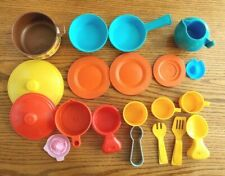 Fisher Price Pretend Play Durable Children's Toy Dishes Lot
