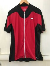 SUGOI Men's 2XL Cycle Jersey Full Zip Red Black  Back Pockets