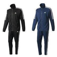 adidas 3 Streifen Herren Männer Trainingsanzug Sportanzug Jogginganzug schwarz