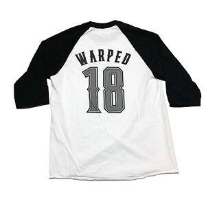 Vans Warped Tour T-shirt 3/4 Sleeve Raglan Style Concert Tee Shirt 2018 Mens M
