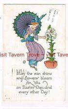 1917 WFW NASH E-112 EASTER Lily parasol postcard