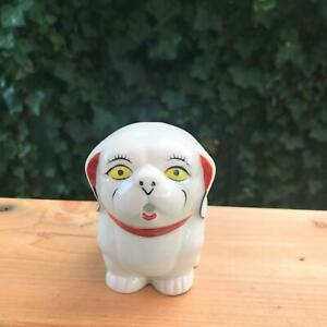 Vintage Pekinese Dog Creamer White Porcelain Reproduction