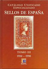 Catálogo Edifil Especializado  Serie Roja  Tomo III  1950-1990  NUEVO