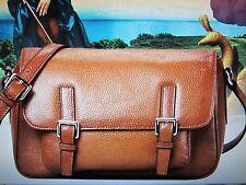 NEW - Genuine Leather Inclined Shoulder Bag