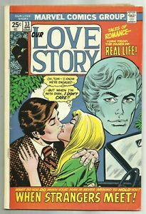 OUR LOVE STORY #33 (Stan Lee Story, Art by Colan, Buscema & Romita) Marvel, 1975