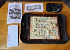 Scrabble Portable Travel Game The Folio Edition Zippered Case - complete