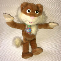 """The Puzzle Place Sizzle Cat 14"""" Plush Vintage Fisher Price 1994 Stuffed Animal"""