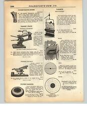 1928 PAPER AD Image Brand Bulls Eye Skull Gun Shot Target Bell Paper