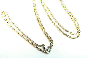 Sterling silver Prince of Wales rope chain 18 inches 1mm 2.2g