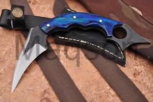 Custom Handmade Damascus steel Hunting Knife Karambit Knife 673EA