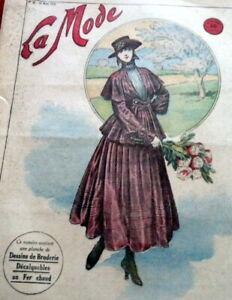 *Antique 1910s PARIS FASHION & SEWING PATTERN CATALOG LA MODE 1916