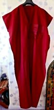 "MENS TRADITIONAL  DJELLABA / ROBE ~ BURGUNDY ~ 62"" WIDE x 58"" LONG"