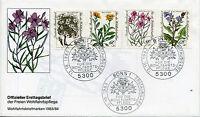 Bund 1188/91 Wohlfahrt 1983 - Blumen FDC