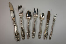 1953 Gorham Decor Sterling Silver Flatware Set 65pcs