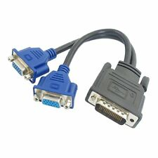 DMS-59 Pin Male to Dual VGA Female Y Splitter Video Card Adapte... Free Shipping