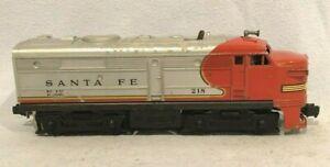 """Lionel No. 218P Santa Fe Alco """"A"""" Diesel Locomotive, Red/Silver"""