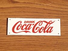 Old Vintage Coca Cola Original Porcelain Metal Sign Small Door Push Coke White