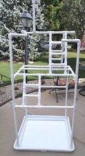 PVC Parrot Play Stand - Our LARGER FLOOR PERCH **FREE SHIPPING** Birds Love Them
