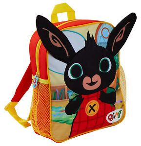 Kids Bing Bunny 3D Plush Backpack Boys Girls Nursery School Rucksack Lunch Bag