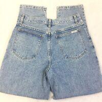 Vintage 90s Bill Bass Women's 10 High Waisted Tapered Leg Mom Jeans VTG 31
