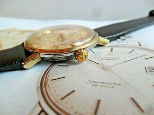 Vintage Gold Capped & S/S 1960's Men's Omega Seamaster De Ville Automatic Watch
