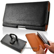 For Samsung Galaxy Note 3 III Extra Large Black Pouch Leather Case Belt Holster